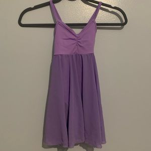 Like New Balera purple girls leotard with skirt